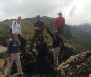 On  the   trail  -Mt  Kenya   Climb