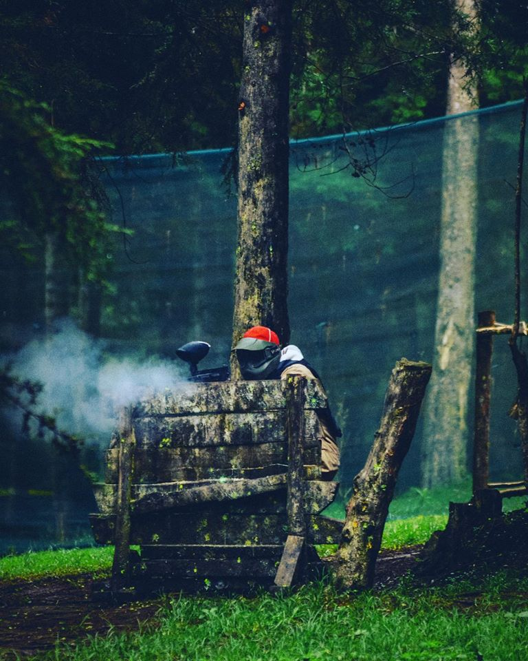 Paintballing at the forest